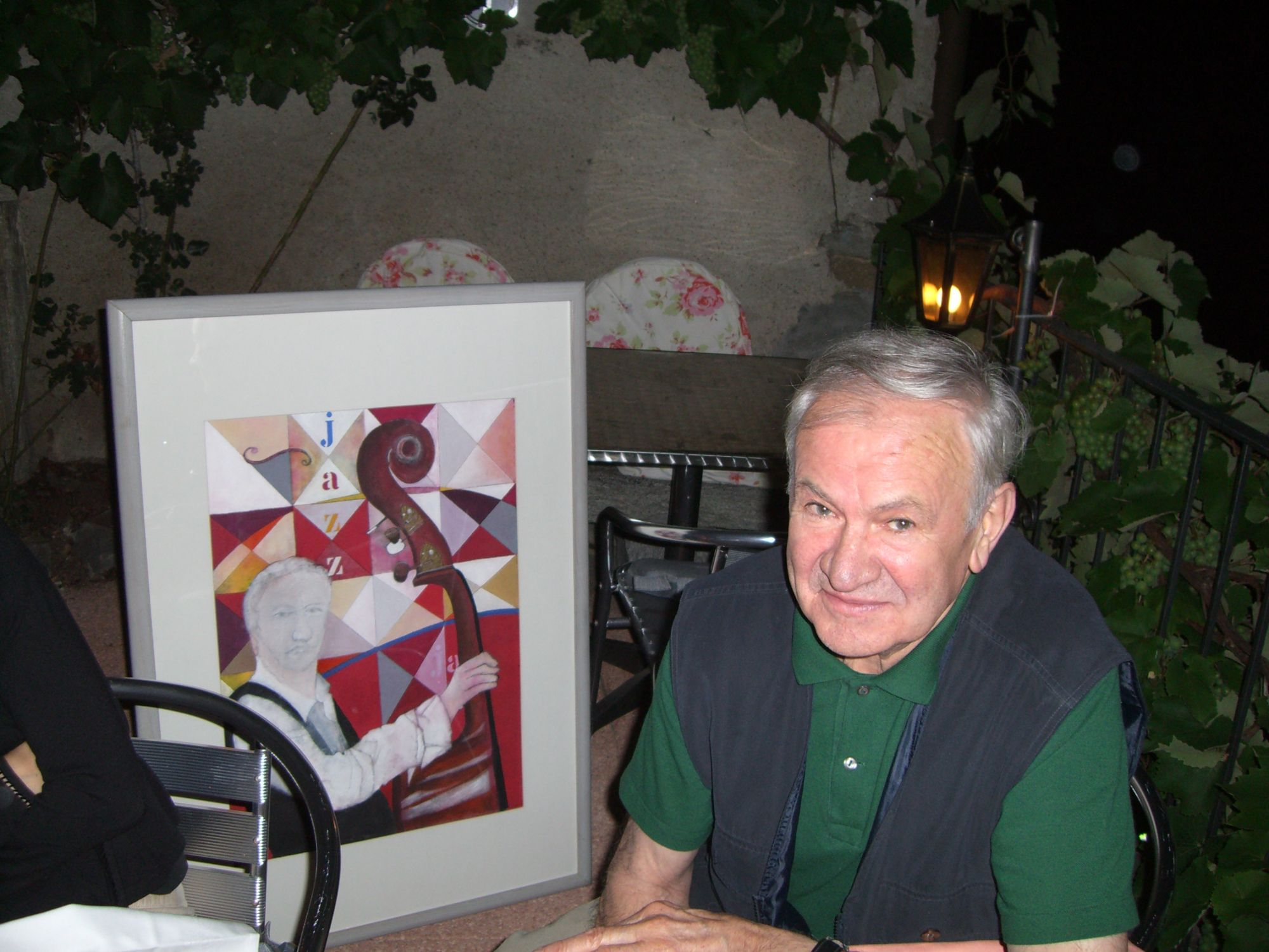 12.07.2007 - Osteria del Portico a Vernate - Luciano Gatti omaggiato con un'opera dell'artista Jean Marc Bühler
