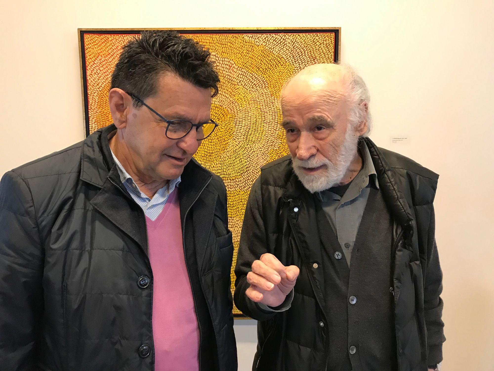 A Riazzino, Mario Matasci presso la Fondazione Matasci con Luciano Carazzettti, 19 maggio 2019