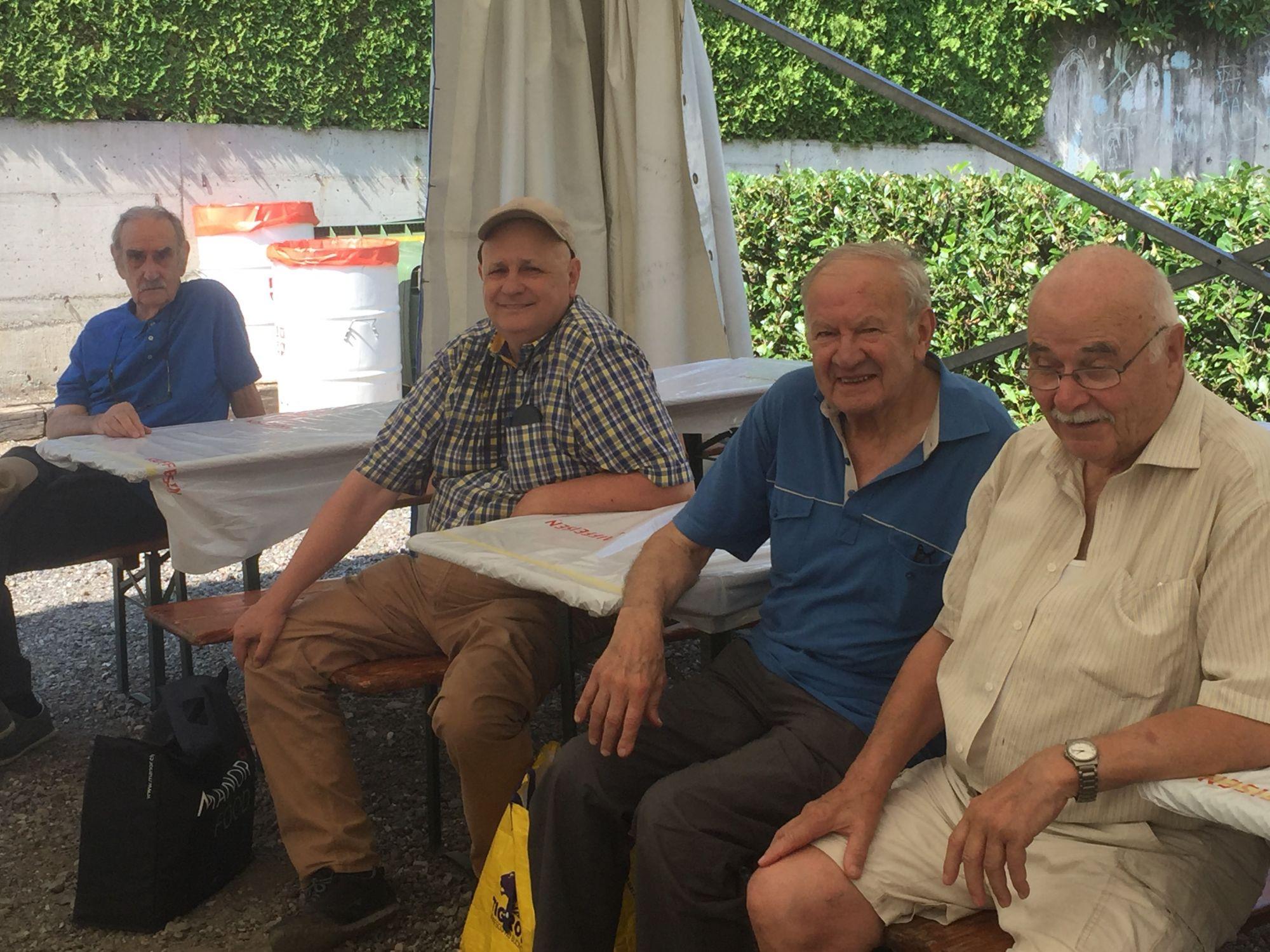 12.09.2015 - Giuria Artisti in Erba a Breganzona. Da sinistra: Emilio Rissone, Adriano Crivelli, Luciano Gatti e Rudi Walter