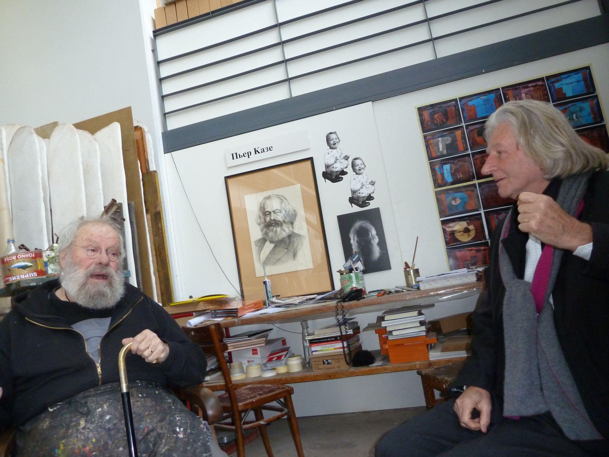 Nello Studio dell'artista a Maggia - 18 novembre 2012