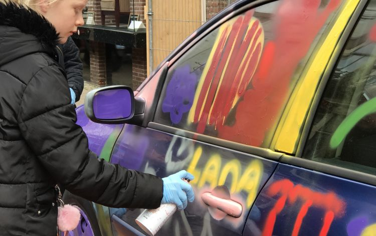 Banksy's car - Kampen (Olanda), 2019