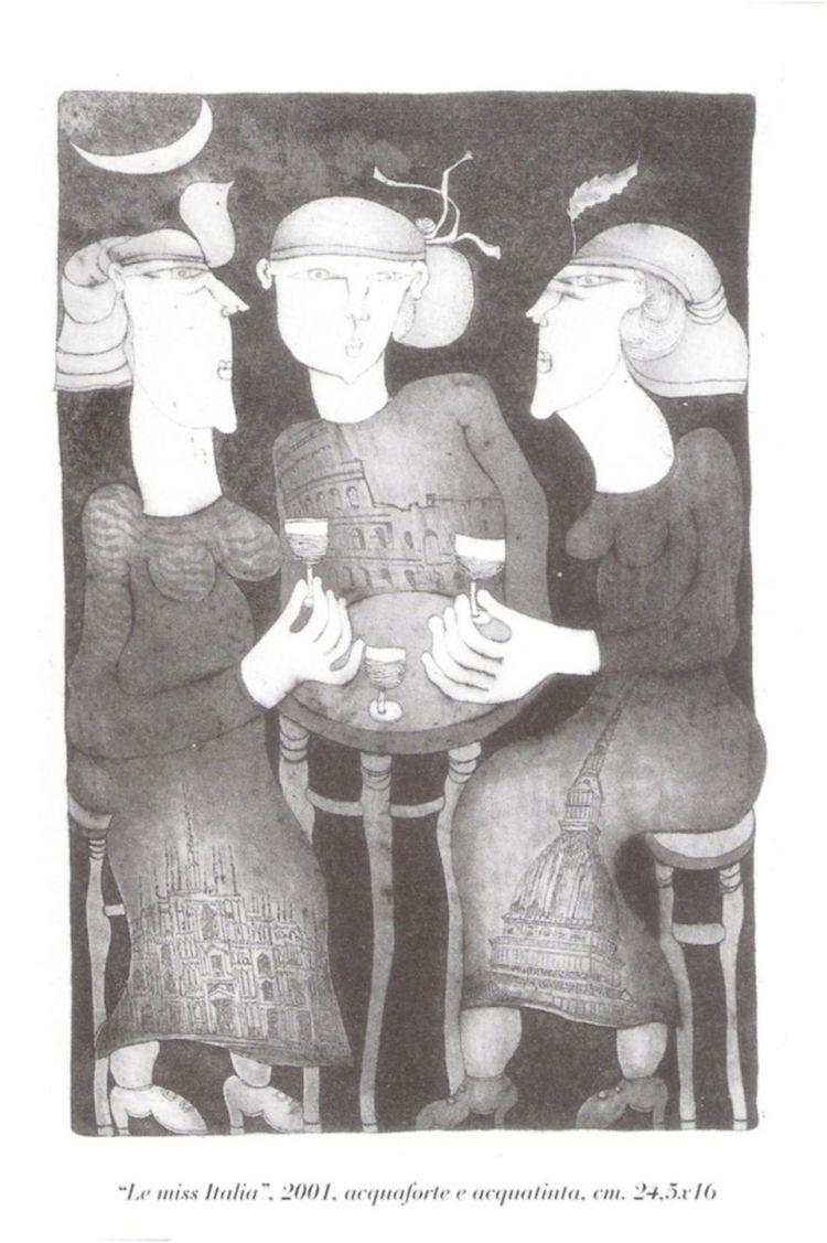 """Invito della mostra """"Acqueforti e acquetinte"""""""
