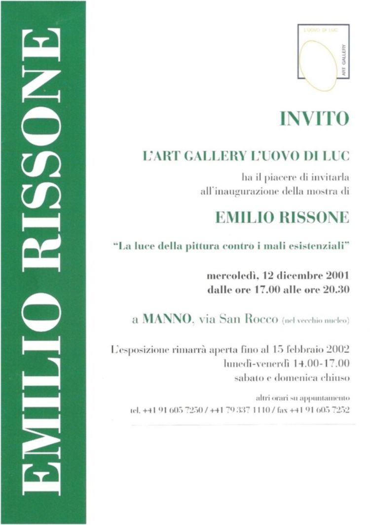 """Invito della mostra """"La luce della pittura contro i mali esistenziali"""""""