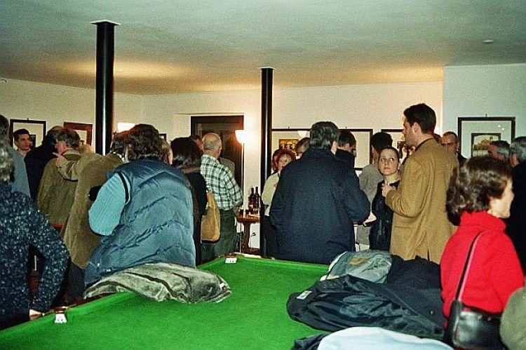 """Foto pubblico della mostra """"Acqueforti e acquetinte"""""""