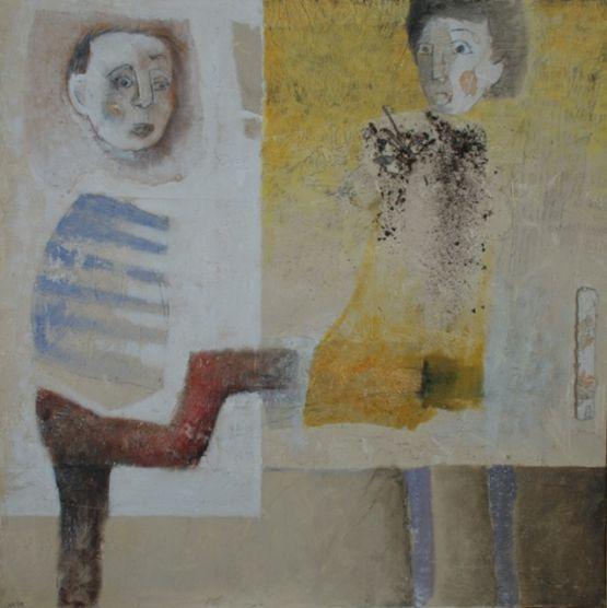 """""""Troppo facile"""", 1999, tecnica mista su tela, 80 x 80 cm"""