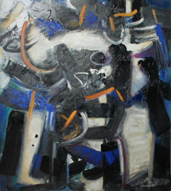 La porta misteriosa, 2004, olio su tela, 90 x 80 cm