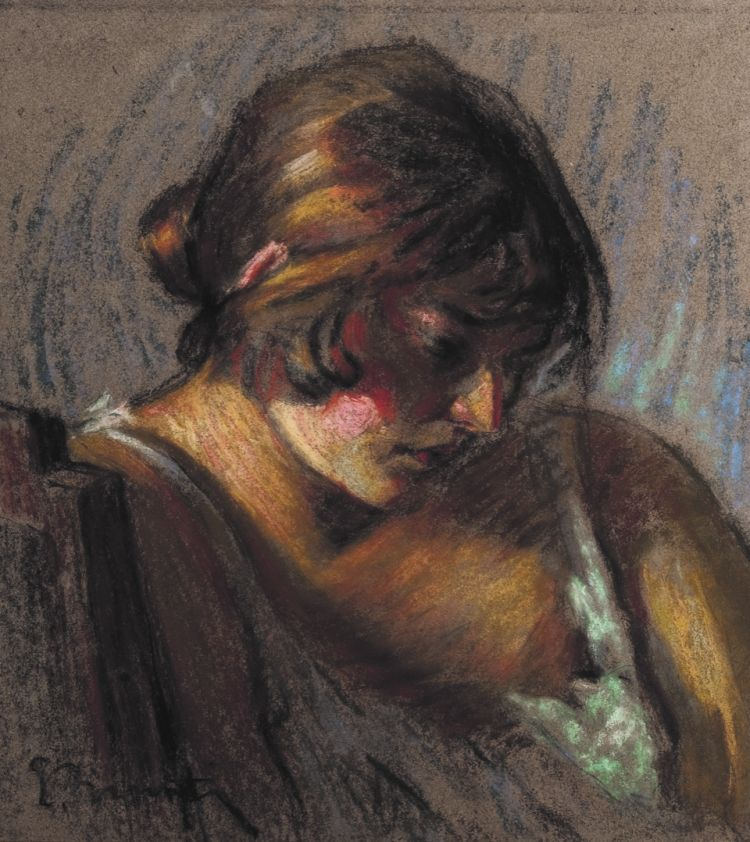 BRUNATI Emilio Oreste Attesa, pastello su carta, 1932