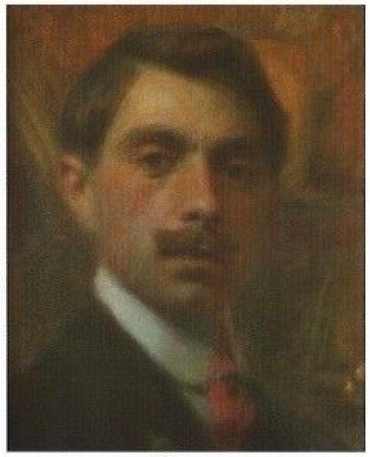 BRUNATI Emilio Oreste Autoritratto, pastello su carta, 1905