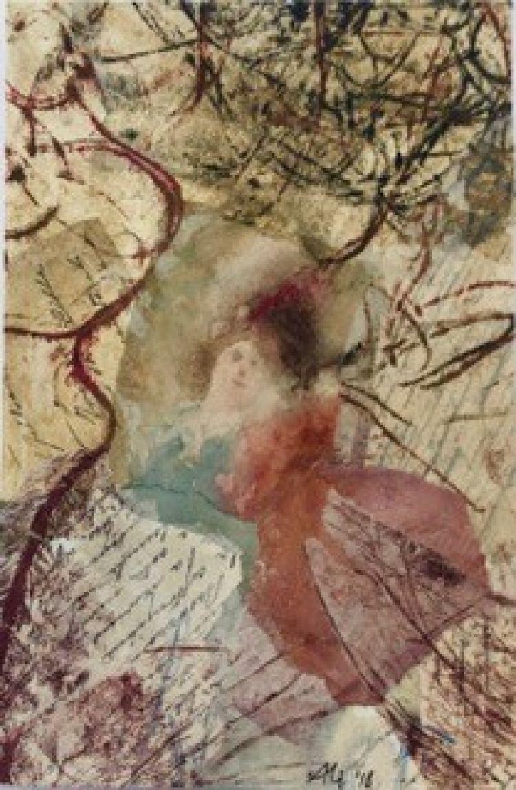 BRUNATI Alida Congiunzione temporale, 2018, tecnica mista, 30 x 20 cm