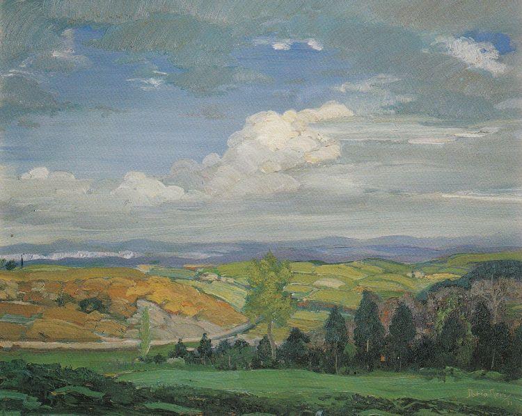NERI Dario Autunno, 1931, olio su compensato, 56 x 41,5 cm