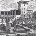 I giardini fiorentini, Bellosguardo, 1931, xilografia, 25 x 34 cm