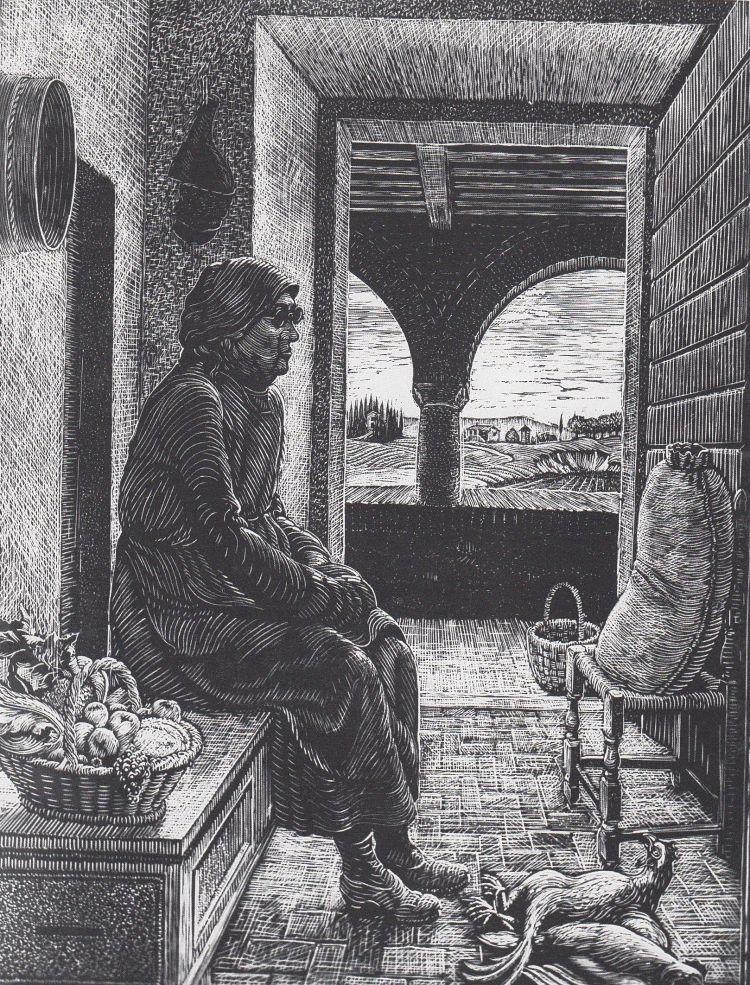 NERI Dario La fattoressa di Campriano, 1932, xilografia, 35 x 46 cm