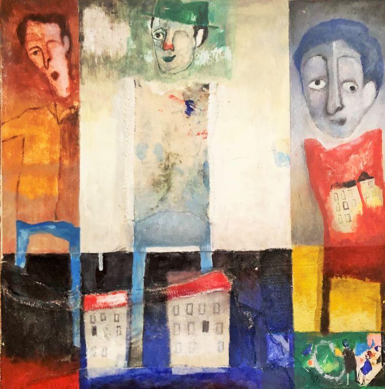 LUPI Marco Lupi Marco, Come in un teatro, acrilico su tela, 30 x 30 cm