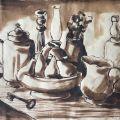 Salati Pietro, Natura morte, inchiostro su carta, 19.7 x 24 cm