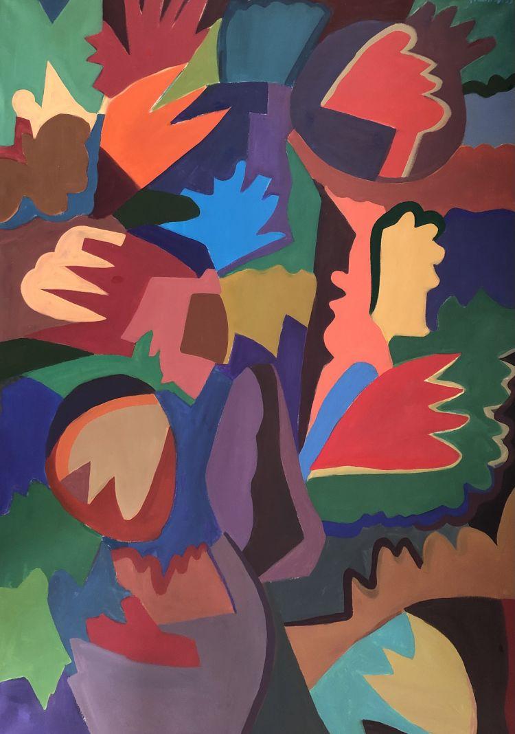FONTANA Gian Battista FONTANA Gian Battista, 2003, acrilico su cotone, 145 x 100 cm