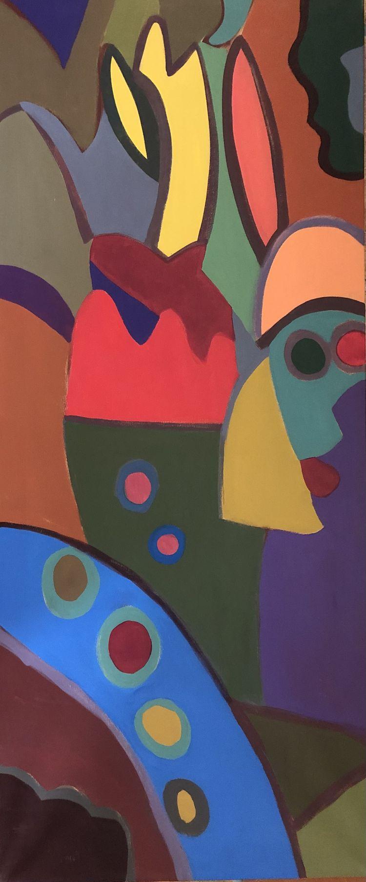 FONTANA Gian Battista FONTANA Gian Battista, 2008, acrilico su cotone, 140 x 60 cm