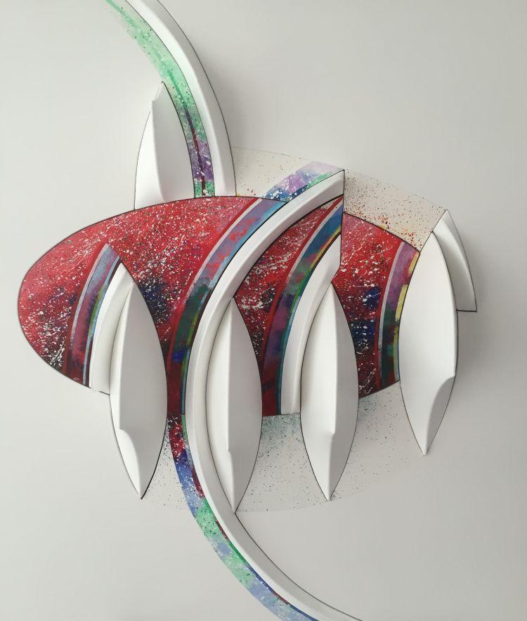 TOGNI Giuliano Convitto (dettaglio),2015 - 2016, cm 100 x 100 tecnica estroflessione shaped canvas