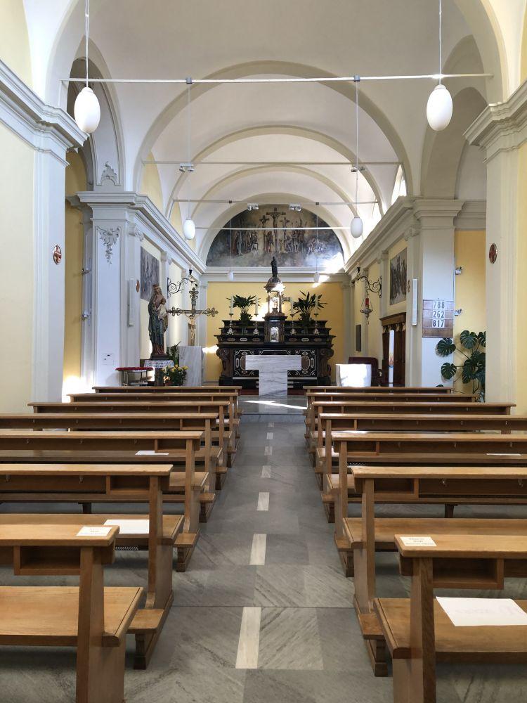 TOGNI Giuliano Chiesa Sant'Abbondio a Bosco Luganese. Affreschi di Giuliano Togni e Pier Alberti - inizio anni sessanta