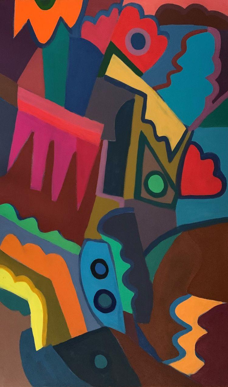 FONTANA Gian Battista FONTANA Gian Battista, 2009, acrilico su cotone, 125 x 75 cm