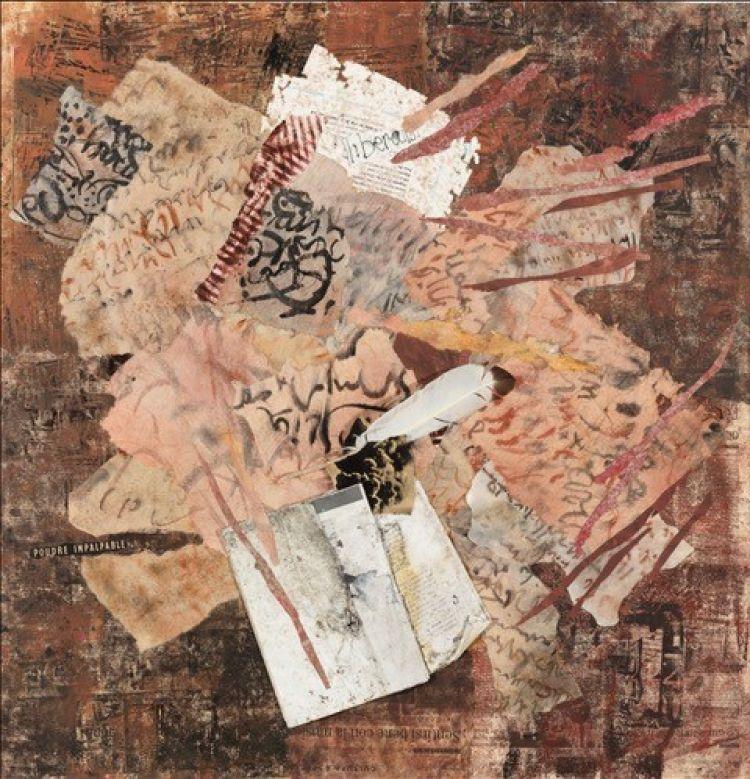 BRUNATI Alida Lungi - mirante, 2009, collage, 82 x 80 cm