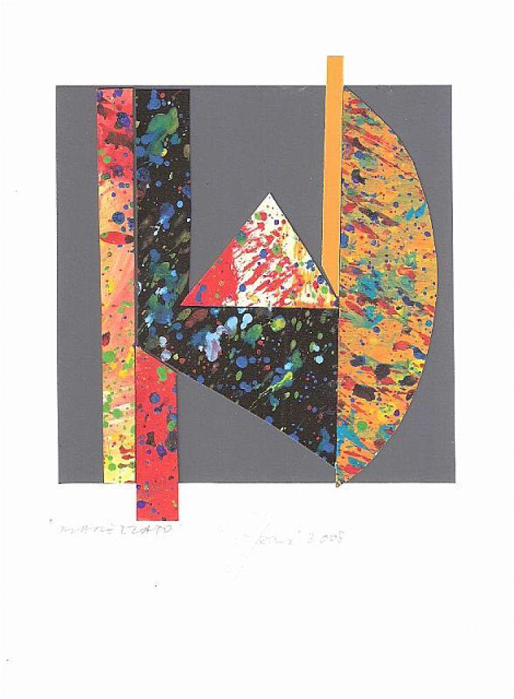 TOGNI Giuliano Marezzato, 2008, collage, 13 x 14 cm