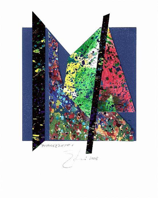 """""""Marezzato"""", 2008, collage, 13 x 14 cm"""