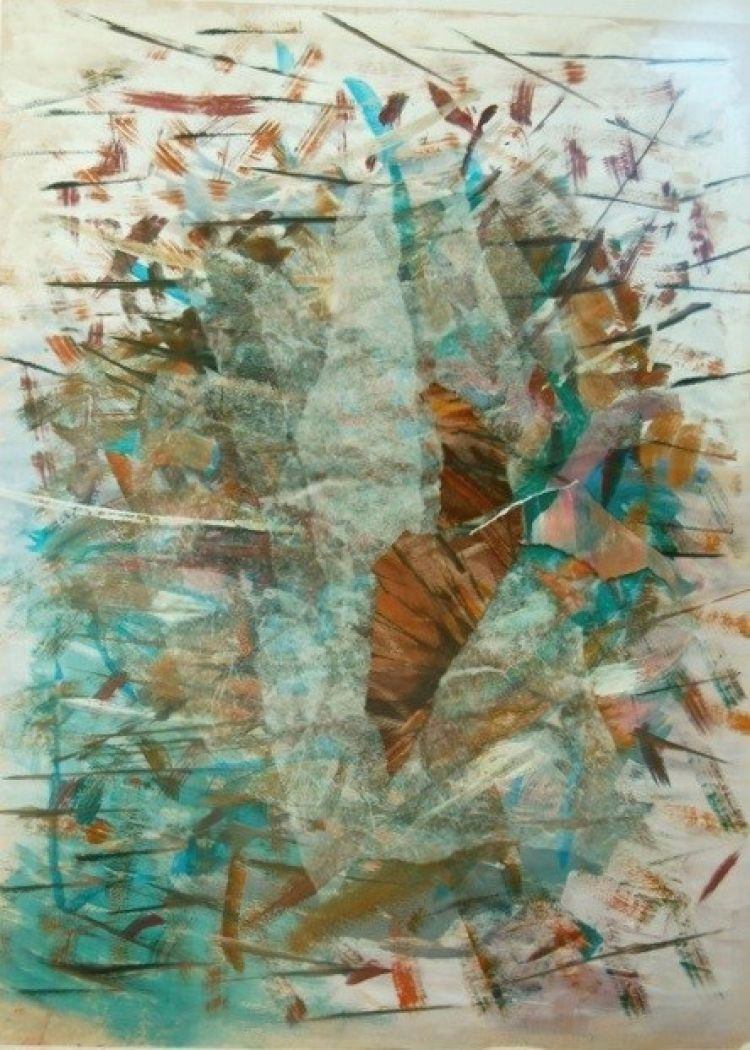 BRUNATI Alida Nucleo, 2014, collage, 74 x 56 cm
