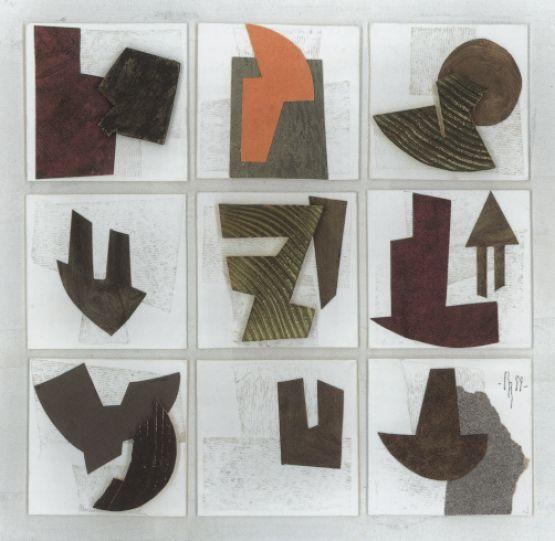 """""""Composizione"""", 1999, collage, 40 x 40 cm"""