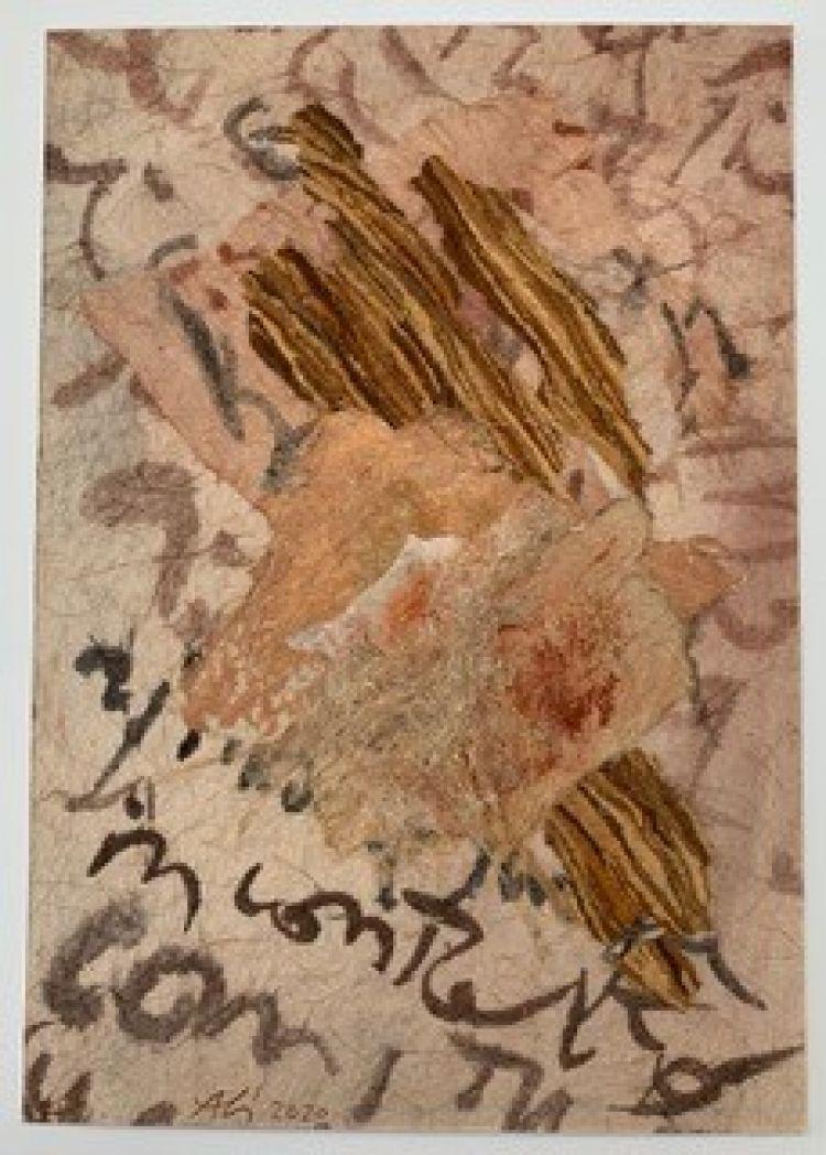 BRUNATI Alida Portato dal vento, 2020, tecnica mista, 30 x 20 cm