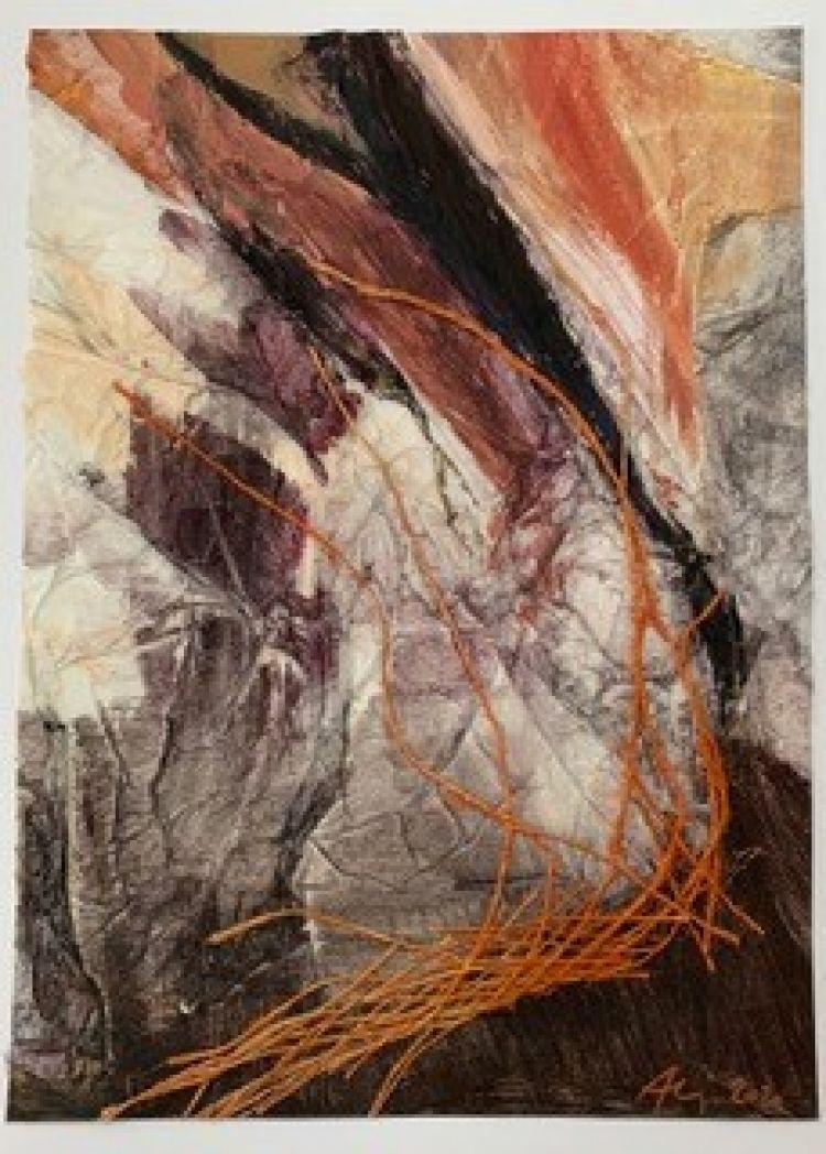 BRUNATI Alida Reticolato, 2020, tecnica mista, 30 x 20 cm