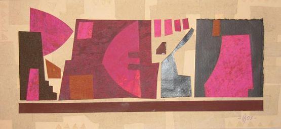 """""""Composizione"""", 2003, collage, 17 x 37 cm"""