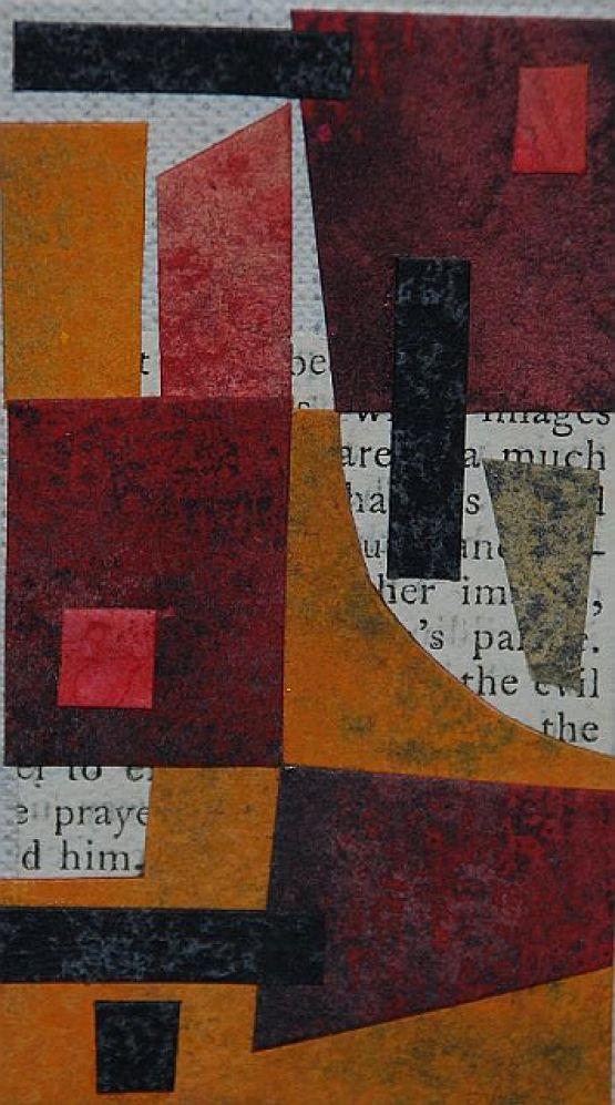 """""""Diario minimo"""", 2007, collage, 5 x 9 cm"""
