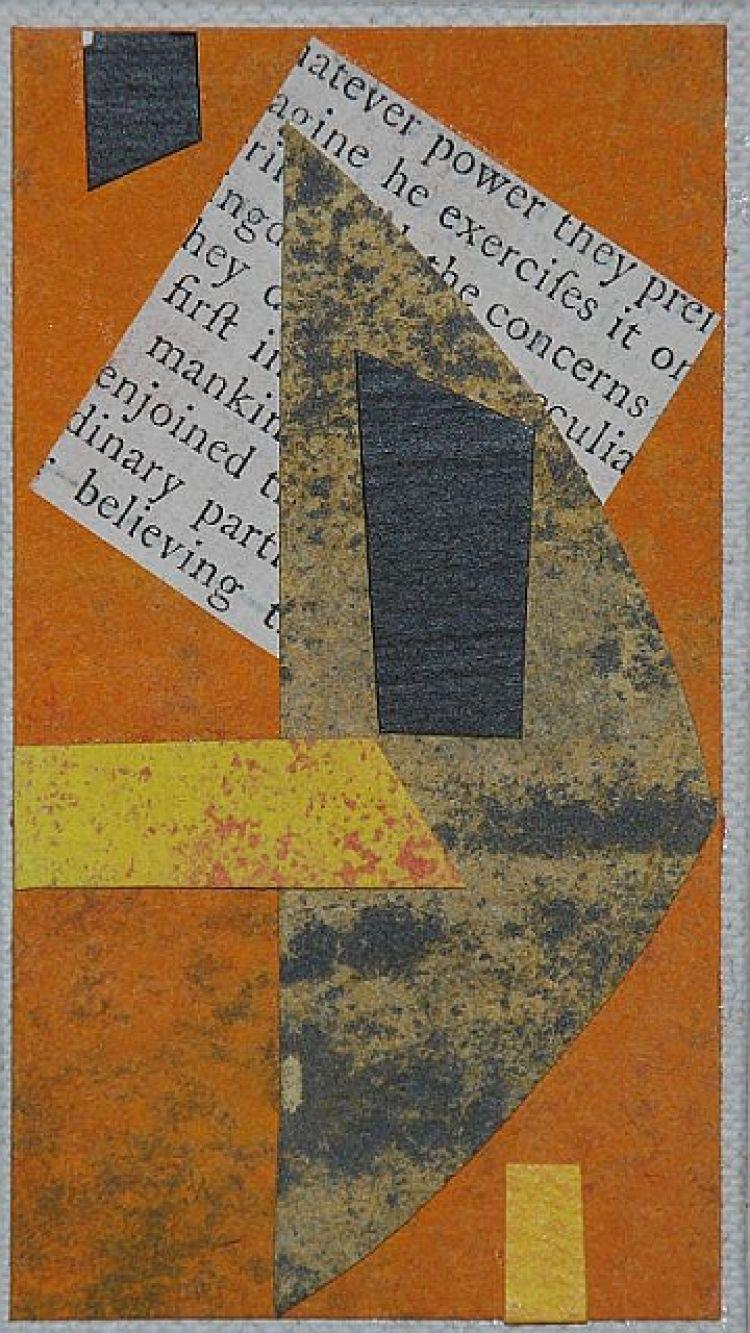 """BLENDINGER Paolo """"Diario minimo"""", 2007, collage, 5 x 9 cm"""